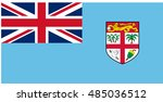 flag of fiji in official colors ...   Shutterstock .eps vector #485036512