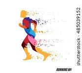 running man vector colorful icon | Shutterstock .eps vector #485039152