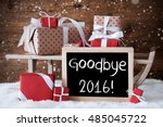sleigh with gifts  snow ... | Shutterstock . vector #485045722