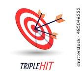 triple hit. wonderful vector...   Shutterstock .eps vector #485046232
