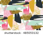 vector seamless pattern with... | Shutterstock .eps vector #485053132