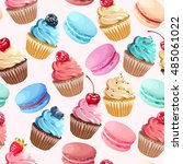 sweets seamless pattern | Shutterstock .eps vector #485061022