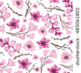 watercolor seamless pattern... | Shutterstock . vector #485061802