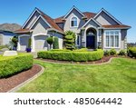 luxury residential house with... | Shutterstock . vector #485064442