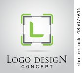 l letter logo in the square...