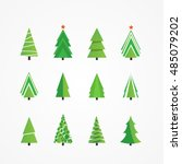 christmas trees | Shutterstock .eps vector #485079202