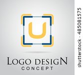 u letter logo in the square...