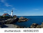 beautiful  stunning maine... | Shutterstock . vector #485082355