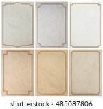 old paper background texture... | Shutterstock . vector #485087806