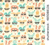 hand drawn doodle cute stylish... | Shutterstock .eps vector #485088136