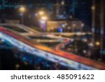 blurred traffic light trails on ... | Shutterstock . vector #485091622