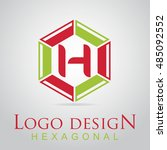 h letter in the hexagonal logo. ...
