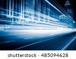 blurred traffic light trails on ... | Shutterstock . vector #485094628