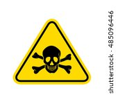 skull danger sign. vector | Shutterstock .eps vector #485096446