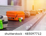 suitcase or luggage with... | Shutterstock . vector #485097712