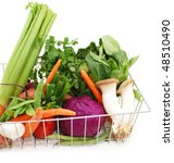 daily groceries food   Shutterstock . vector #48510490