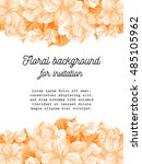 abstract flower background with ... | Shutterstock .eps vector #485105962