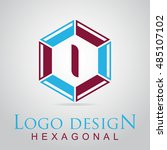 i letter in the hexagonal logo. ...