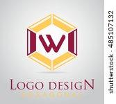 w letter in the hexagonal logo. ...