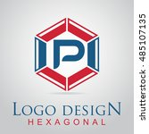 p letter in the hexagonal logo. ...