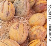 Honeydew Melons In Straw At...