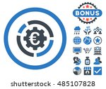 euro diagram options icon with... | Shutterstock .eps vector #485107828