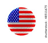 golf ball with us flag | Shutterstock . vector #48511675