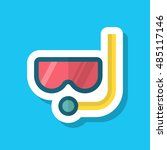 diving icon  vector flat long... | Shutterstock .eps vector #485117146