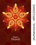 diwali traditional indian...   Shutterstock .eps vector #485122642