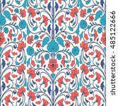 floral ornamental seamless...   Shutterstock .eps vector #485122666