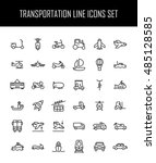 set of transportation icons in... | Shutterstock .eps vector #485128585