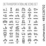 set of transportation icons in... | Shutterstock .eps vector #485128702