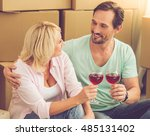 beautiful mature couple in... | Shutterstock . vector #485131402