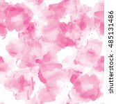pink seamless watercolor pattern | Shutterstock . vector #485131486