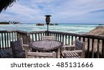 Wood Table Set Over Water Vill...