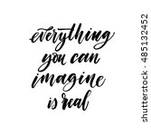 imagine everything you can is... | Shutterstock .eps vector #485132452