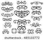 set of decorative elements.... | Shutterstock .eps vector #485133772
