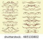 set of decorative elements.... | Shutterstock .eps vector #485133802