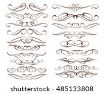 set of decorative elements.... | Shutterstock .eps vector #485133808