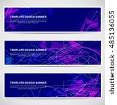 banners set for business modern ... | Shutterstock .eps vector #485136055