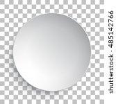 empty white dish plate... | Shutterstock .eps vector #485142766