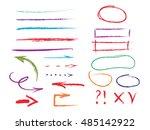 vector highlighter elements ... | Shutterstock .eps vector #485142922