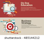 strategy concept  business... | Shutterstock .eps vector #485144212