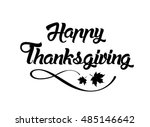 thanksgiving greeting card with ...   Shutterstock .eps vector #485146642