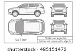 car sedan and suv drawing... | Shutterstock .eps vector #485151472