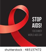 world aids day. red awareness.... | Shutterstock .eps vector #485157472