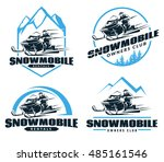 Set Of Winter Snowmobile Logo ...