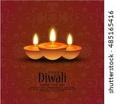 vector illustration of diwali... | Shutterstock .eps vector #485165416