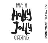 decorative xmas lettering.... | Shutterstock .eps vector #485169772