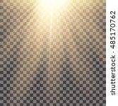 yellow warm light effect sun... | Shutterstock .eps vector #485170762